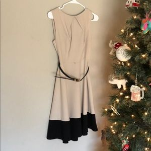 Dress barn tan and black dress